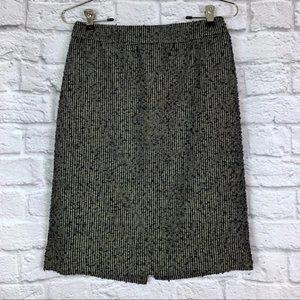 J. Crew Pencil Skirt 0 Metallic Tweed Wool Knit